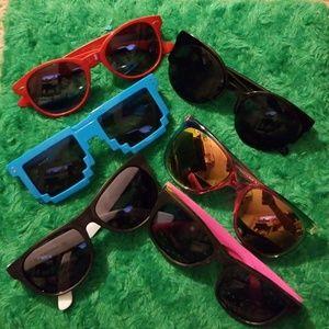 8 pairs of glasses